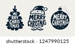 merry christmas  label set.... | Shutterstock .eps vector #1247990125