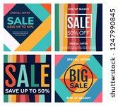 sale banner design template.... | Shutterstock .eps vector #1247990845