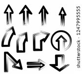 hand draw style arrows black... | Shutterstock .eps vector #1247995555