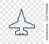 fighter plane icon. trendy...   Shutterstock .eps vector #1247996668