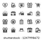 gift icons. present box  offer... | Shutterstock .eps vector #1247998672