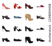 isolated object of footwear and ... | Shutterstock .eps vector #1248004408