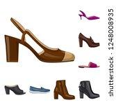 vector illustration of footwear ... | Shutterstock .eps vector #1248008935