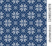 winter sweater fairisle design. ... | Shutterstock .eps vector #1248014878