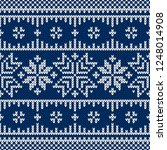 winter sweater fairisle design. ... | Shutterstock .eps vector #1248014908