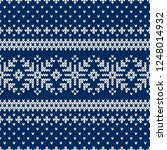 winter sweater fairisle design. ... | Shutterstock .eps vector #1248014932