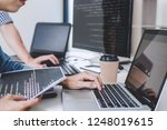 writing codes and typing data... | Shutterstock . vector #1248019615