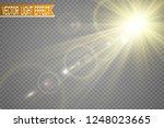 special lens flash  light... | Shutterstock .eps vector #1248023665