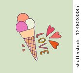 love ice cream illustration.... | Shutterstock .eps vector #1248033385