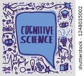 cognitive science handwritten... | Shutterstock .eps vector #1248035002