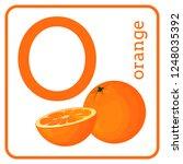 an alphabet with cute fruits ...   Shutterstock . vector #1248035392