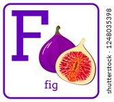an alphabet with cute fruits ...   Shutterstock . vector #1248035398