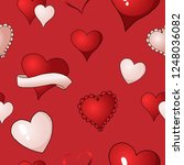 happy valentines day red ... | Shutterstock .eps vector #1248036082