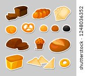 bread.  stickers set. bakery  ... | Shutterstock . vector #1248036352