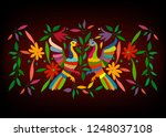 ethnic mexican tapestry with... | Shutterstock .eps vector #1248037108