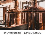 beer tanks in production and... | Shutterstock . vector #1248042502