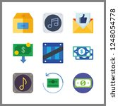 9 send icon. vector... | Shutterstock .eps vector #1248054778
