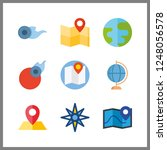 9 geography icon. vector... | Shutterstock .eps vector #1248056578