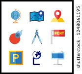 9 geography icon. vector... | Shutterstock .eps vector #1248061195