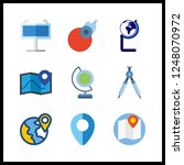 9 geography icon. vector... | Shutterstock .eps vector #1248070972