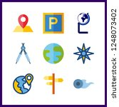 9 geography icon. vector... | Shutterstock .eps vector #1248073402