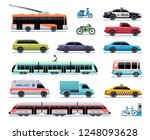 city transport. cartoon car ... | Shutterstock .eps vector #1248093628