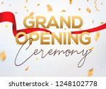 grand opening ceremony poster... | Shutterstock .eps vector #1248102778