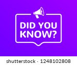did you know text in speech... | Shutterstock .eps vector #1248102808