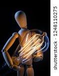 wooden articulated artist doll... | Shutterstock . vector #1248110275