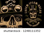 the vector artwork of skull in... | Shutterstock .eps vector #1248111352