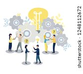people work as a team and reach ...   Shutterstock .eps vector #1248112672