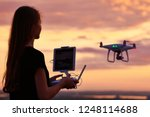 drone quadcopter with digital... | Shutterstock . vector #1248114688