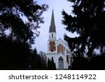beautiful building with a spire ... | Shutterstock . vector #1248114922