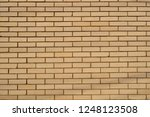 smooth brick wall | Shutterstock . vector #1248123508