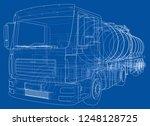 truck with tank concept. 3d...   Shutterstock . vector #1248128725