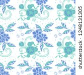 small flowers. seamless pattern ... | Shutterstock .eps vector #1248131305