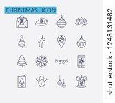 outline christmas icon set...   Shutterstock .eps vector #1248131482