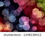 blur and bokeh  vibrant colors. ... | Shutterstock . vector #1248138412