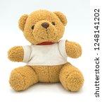 teddy bear on a white... | Shutterstock . vector #1248141202