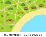 illustration of country city... | Shutterstock .eps vector #1248142198
