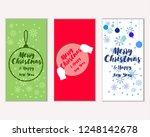 vector illustration of winter... | Shutterstock .eps vector #1248142678