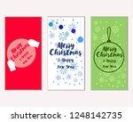 vector illustration of winter... | Shutterstock .eps vector #1248142735