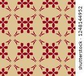 golden vector geometric pattern.... | Shutterstock .eps vector #1248144952