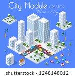 winter christmass kit set city...   Shutterstock .eps vector #1248148012