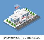 hospital isometric 3d building...   Shutterstock .eps vector #1248148108