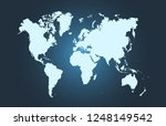 color world map vector | Shutterstock .eps vector #1248149542