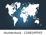 color world map vector | Shutterstock .eps vector #1248149545