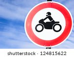 Road Closed For Motorbikes Sign ...