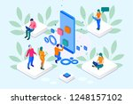 isometric seo optimization and... | Shutterstock . vector #1248157102