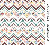 abstract zigzag pattern for... | Shutterstock .eps vector #1248157795